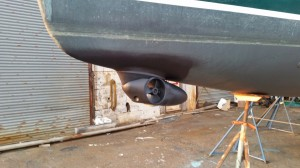 External bow thruster installation