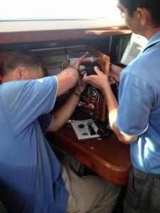 Electronics installation underway