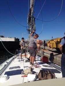 Mast step underway